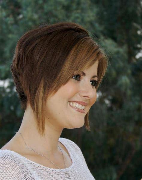 short stacked bob hairstyles  women short