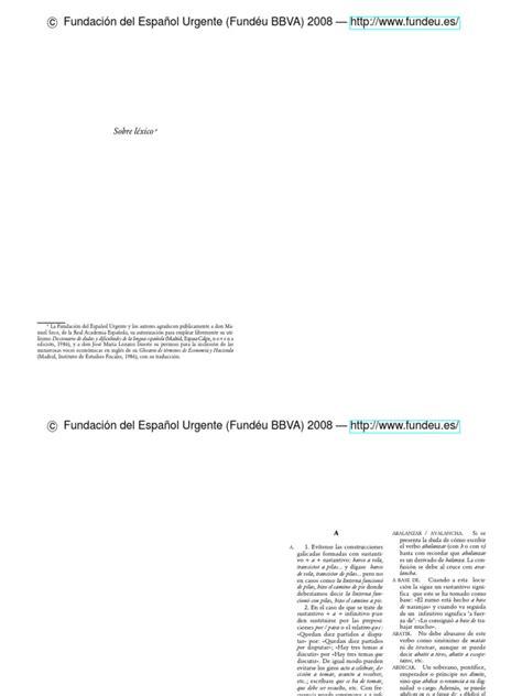 Manual de Espanol Urgente Sobre Lexico Lengua española