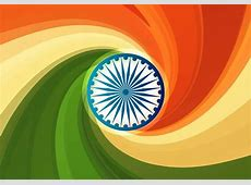 Indian Flag Abstract Swirls Background Vector