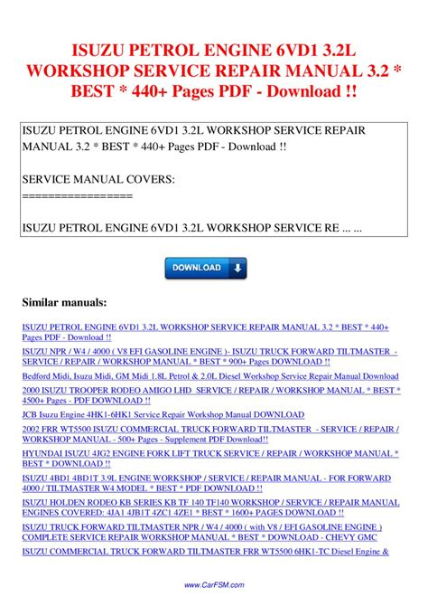 how to download repair manuals 2006 isuzu i 350 electronic throttle control isuzu petrol engine 6vd1 3 2l workshop service repair manual 3 2 440 pages by nana hong issuu