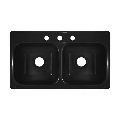 19 x 33 black kitchen sink shop lyons style j 19 in x 33 in black basin