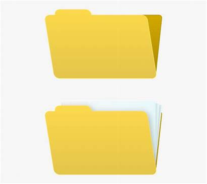 Folder Microsoft Empty Clipart Icon Office Clipartkey