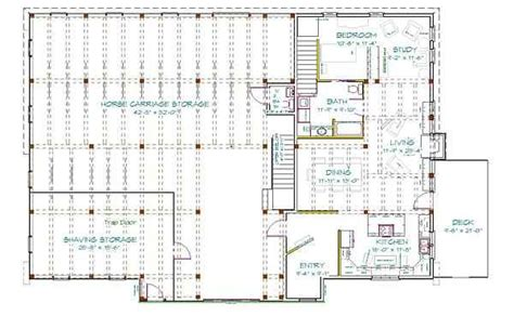 metal barn with living quarters floor plans mikes barn plans 48 x 72 post beam bank barn