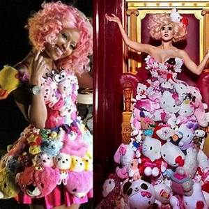 Nicki Minaj vs. Lady Gaga Stuffed animal dress and pink ...