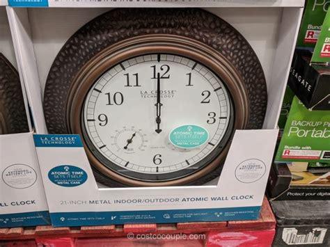 la crosse technology atomic indoor outdoor wall clock