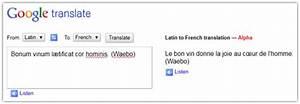 Traduction Francais Latin Gratuit Google : latin traduction ~ Medecine-chirurgie-esthetiques.com Avis de Voitures