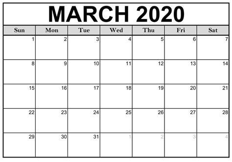 calendar  march  printable template