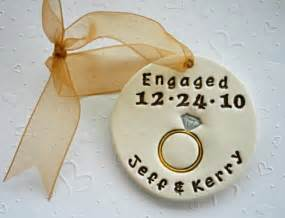 engagement ring ornament personalized engagement ring ornament for the by sunshineceramics