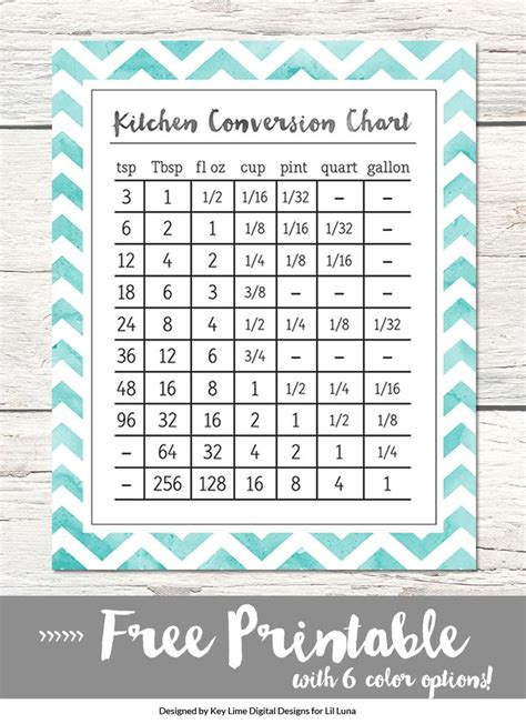 kitchen conversion chart printable printables kitchen conversion cooking measurements