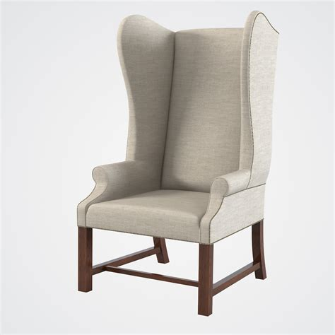 upholstered wing chair max