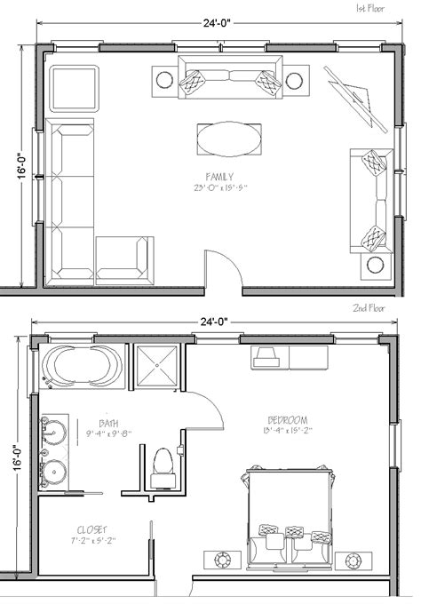 Two Story Home Extension Concept Plans & Building Costs