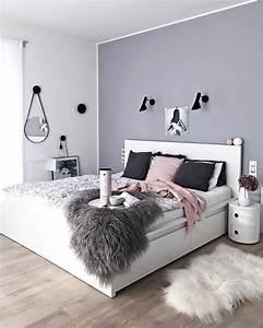 Schlafzimmer Rosa Grau : graue wandfarbe und eine ganz andere art des streichens wei e r nder wohnideen einfach ~ Frokenaadalensverden.com Haus und Dekorationen