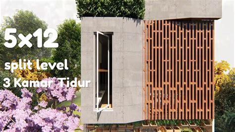 desain rumah  modern minimalis split level  kamar