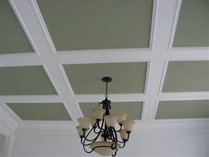 Coffered, Ceiling, Trim, Suspended, Drop