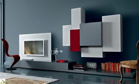 mobile sala moderno parete attrezzata moderna quadrid arredo design