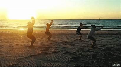 Beach Sunset Sun Break Giphy Gifs Teens