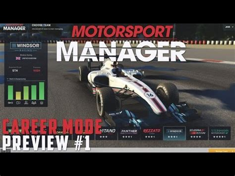Motorsport Manager Pc Preview Career Mode  Part 1 The