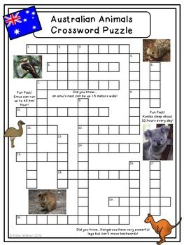 australia day puzzles  teaching east   middle tpt