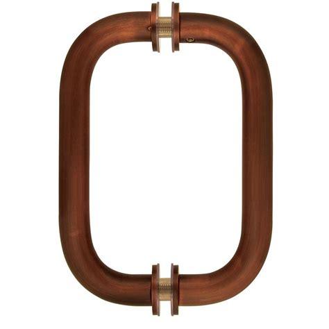 bronze door handles showerdoordirect 8 in tubular back to back shower door