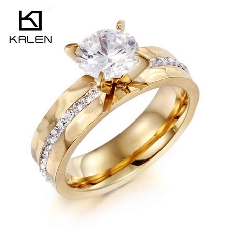 kalen new fashion women finger rings italian gold