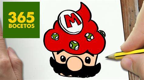 COMO DIBUJAR MARIO CUPCAKE KAWAII PASO A PASO Dibujos