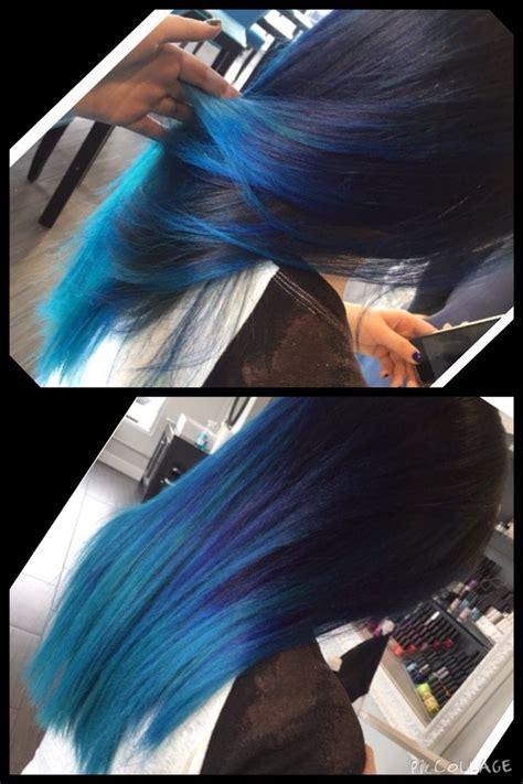 Blue Hair Blue Ombre Fun Hair Bright Hair Shades Of