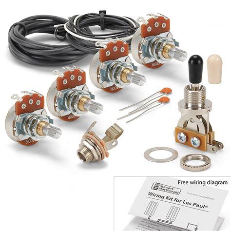 golden age wiring kit for gibson les paul guitar standard reverb