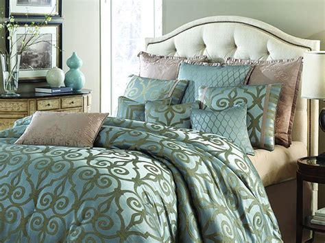 michael amini plaza suite 10pc king comforter set in teal