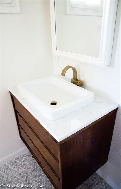mid century modern bathroom vanity designing a tiny bathroom cre8tive designs inc