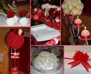 Décoration Mariage Rouge Et Blanc : deco mariage rouge blanc argent le mariage ~ Melissatoandfro.com Idées de Décoration