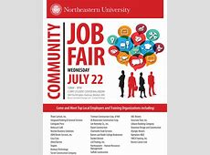 Community Job Fair on July 22 at Northeastern University
