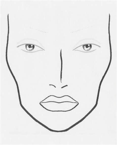 blank makeup face chart blank face charts pinterest