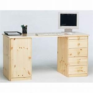 Bureau En Pin : bureau ministre en pin massif miel ~ Teatrodelosmanantiales.com Idées de Décoration