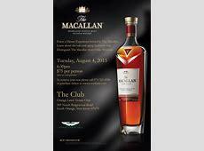 The Macallan Single Malt Scotch & Dinner Tasting Hip New
