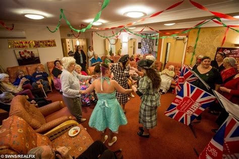 north weald christmas party care home staff recreate 1940 s to bring back memories for dementia patients