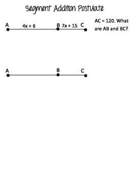 Segment Addition Postulate Foldable By Mferg7  Teachers Pay Teachers