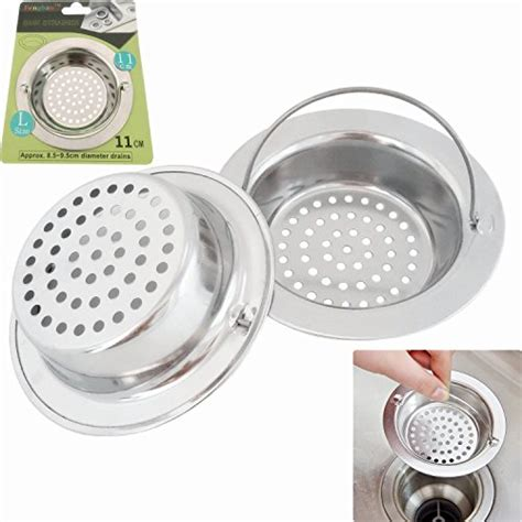 kitchen sink drain diameter 2pcs stainless steel kitchen sink strainer large wide 5725