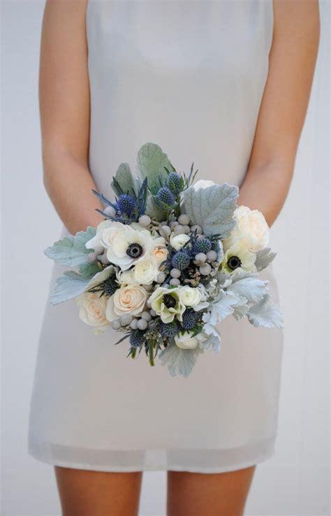 navy blue wedding flower package dusty blue wedding