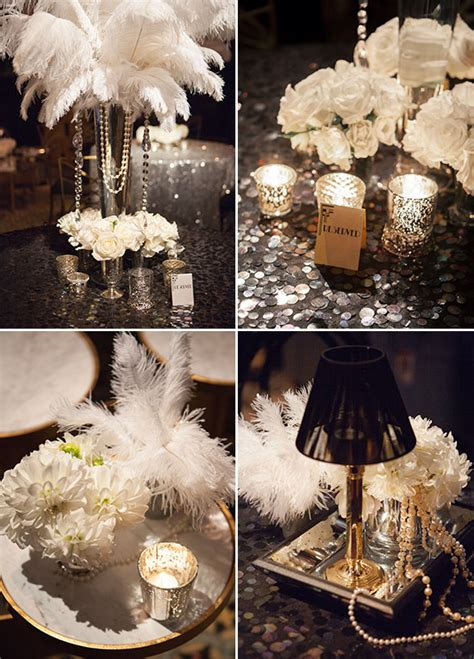 gatsby themed wedding or bridal shower ideas classic and