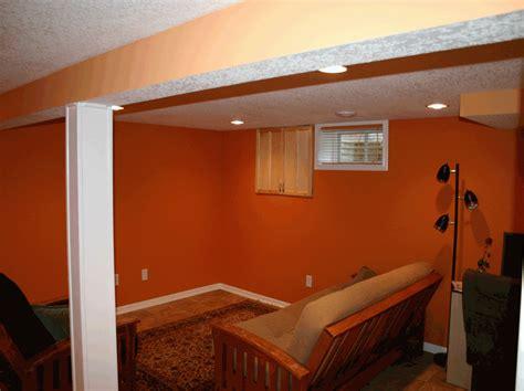 unfinished basement paint color ideas