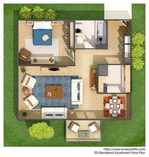 rendered floor plan floor plan rendering pinterest
