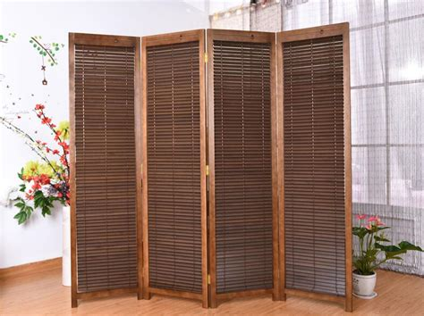Oriental Style Panel Folding Screen Room Divider