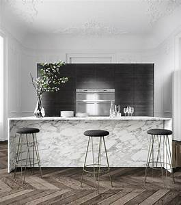 Plan De Travail Cuisine Marbre : d co cuisine marbre travers une galerie d 39 int rieurs design ~ Melissatoandfro.com Idées de Décoration