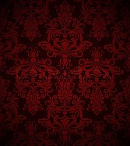 Seamless dark red vintage vector wallpaper pattern