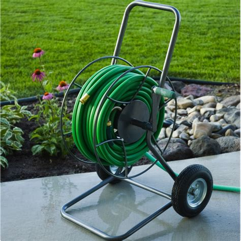 garden hose reel hose reel truck with 200 foot capacity yard butler