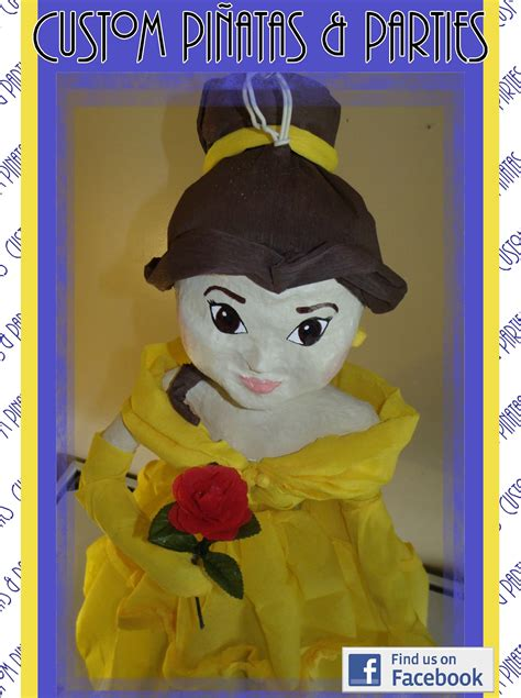 pinata inspired  belle  beauty   beast
