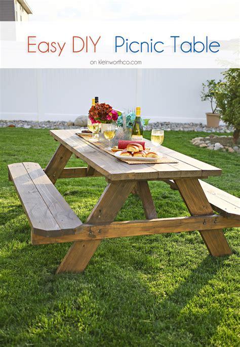 easy diy picnic table bigdiyideas