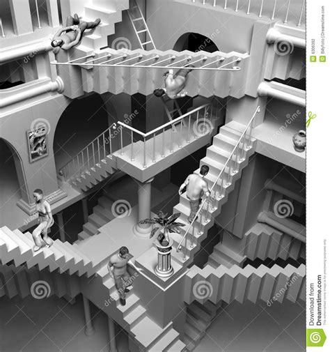 escaliers d escher photographie stock image 6306392