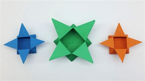 How Make Origami Star Box Easy Paper