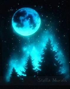 Starry Night Sky Poster Glow In The Dark Sky by ...